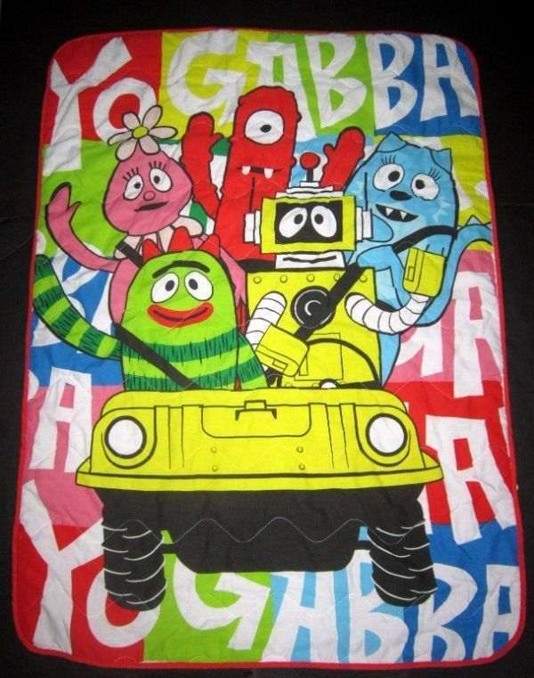 Yo Gabba Gabba Toddler Bed Bedspread Comforter Blanket Quilt | eBay