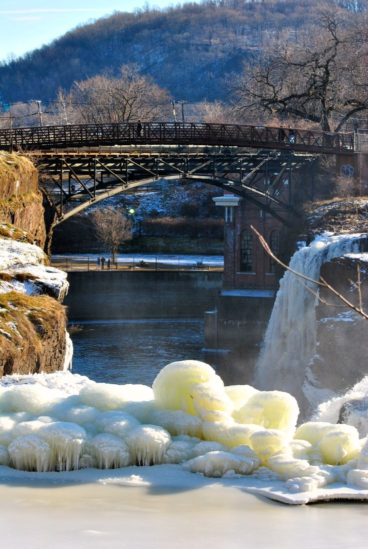Winter at the Great Falls in Paterson, NJ