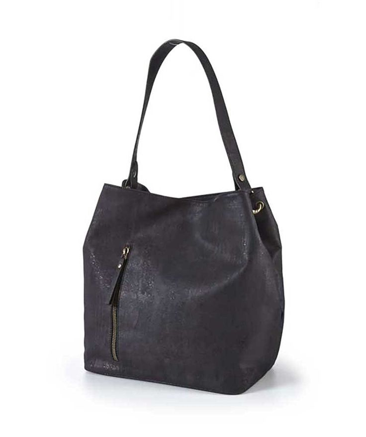 Eve Java PETA Vegan Approved Cork Top Handle Tote Handbag, Black: Handbags: Amazon.com