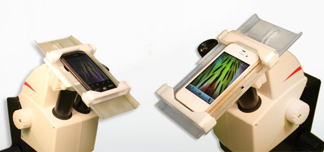 Attach your smartphone to a microscope and take photos and videos.  COOL!!!!  I love this!