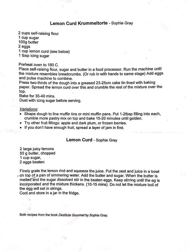 Destitute gourmet-lemon curd krummeltorte
