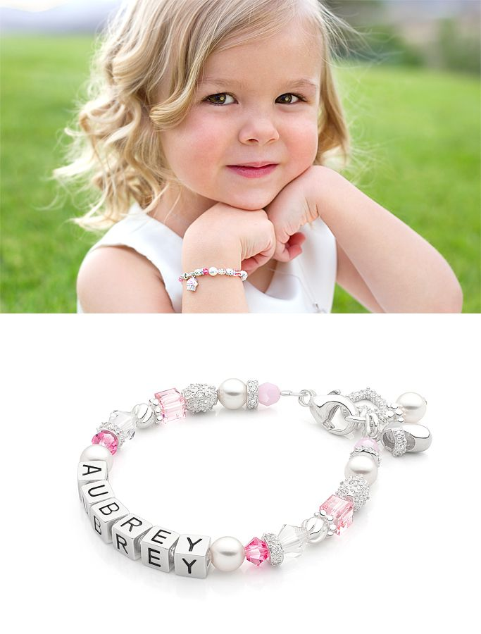 Little Miss Children s Name Bracelet in Sterling Silver