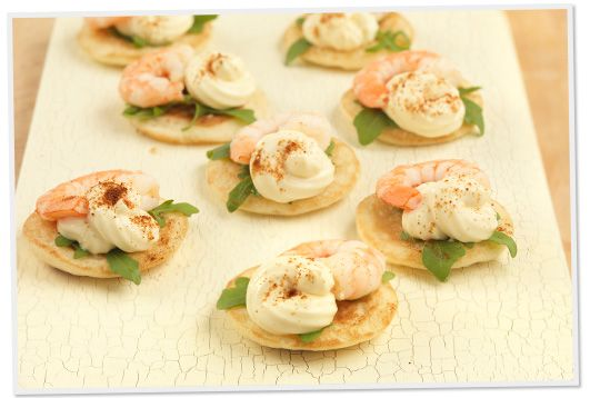 King prawn canapes marvellous meat poultry and sea food for Mini prawn cocktail canape
