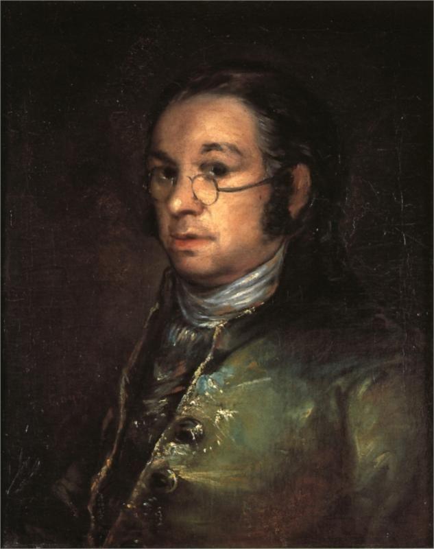 Francisco Goya (Spanish 1746–1828) [Romanticism] Self portrait with spectacles, 1801. Musée Bonnat, Bayonne, France.