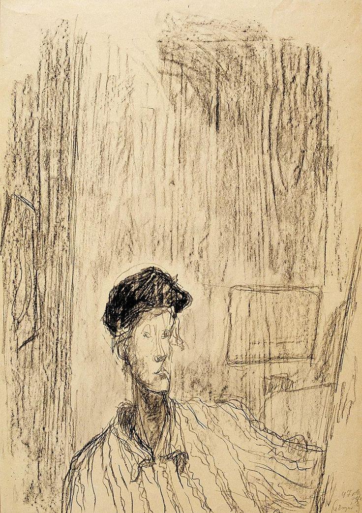 Ilka Gedő (Hungarian, 1921 - 1985), 'Self Portrait', 1947