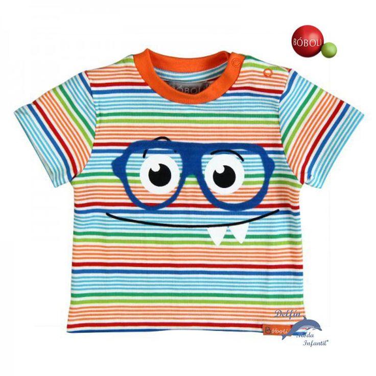 Camiseta niño BOBOLI listada gafas
