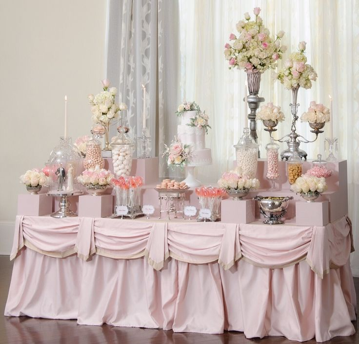 Blush And Pink Cake and Dessert Tablescape by The Mischief Maker