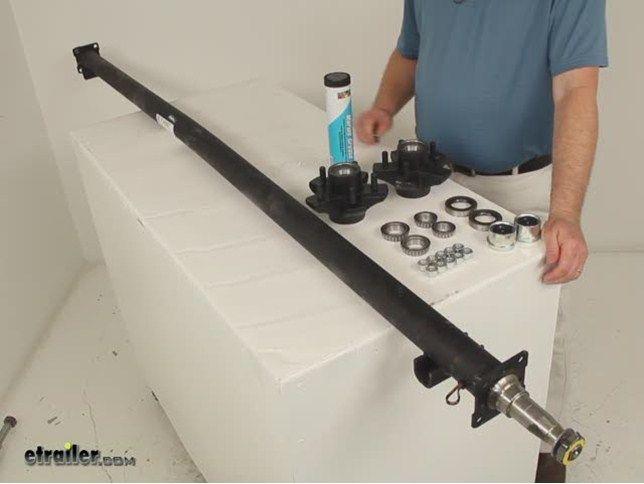 """Dexter Trailer Axle w/ Idler Hubs - EZ-Lube - 5 on 4-1/2 Bolt Pattern - 89"""" Long - 3,500 lbs Dexter Trailer Axles 35545I-EZ-89"""