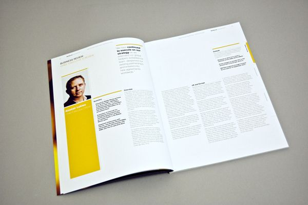 Monitise annual report by Ryan Bennett, via Behance