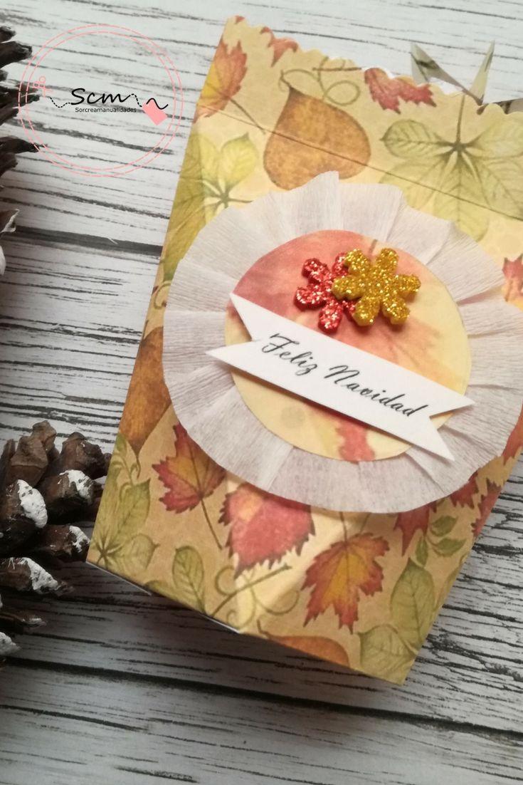 Cajita para regalar detalles en Navidad