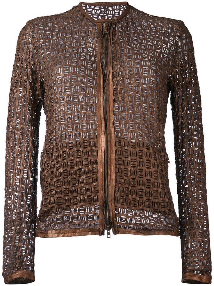 ¡Cómpralo ya!. Salvatore Santoro - Braided Effect Collarless Jacket - Women - Leather - 40. Lava brown leather braided effect collarless jacket from Salvatore Santoro. Size: 40. Gender: Female. , chaquetadecuero, polipiel, biker, ante, antelina, chupa, decuero, leather, suede, suedette, fauxleather, chaquetadecuero, lederjacke, chaquetadecuero, vesteencuir, giaccaincuio, piel. Chaqueta de cuero  de mujer color marrón oscuro de SALVATORE SANTORO.