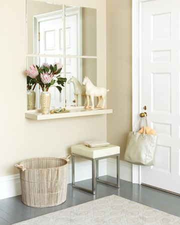 A dressing table solution for a small room - even a simple solution for a guest room you don't want to clutter