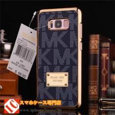 Galaxy S8 S8 Plus メッキ加工ブランドMKスマホケース薄い男女通用マイケルコース ギャラクシーS8プラス携帯カバー