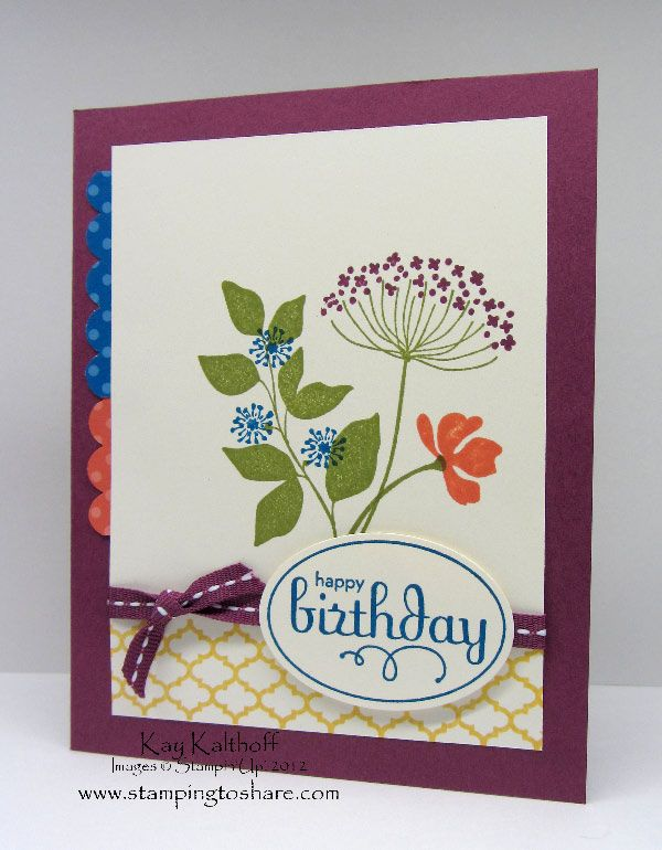 by Kay Kalthoff, Stamping to ShareCards Ideas, Summer Silhouettes, Birthday Cards, Stampin Up, Silhouettes Birthday, Silhouettes Cards, Paper Crafts, Su Summer, Kay Kalthoff
