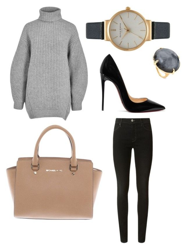 Formal Winter Outfit by tracay on Polyvore featuring polyvore, fashion, style, Acne Studios, J Brand, Christian Louboutin, Michael Kors, Olivia Burton, Ippolita and clothing