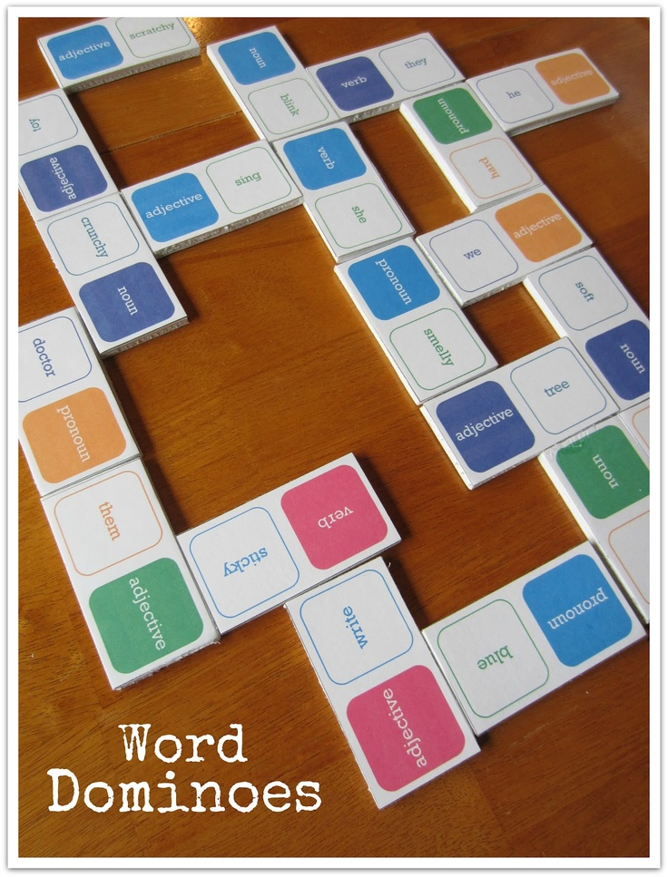 Parts of speech dominos! What an awesome idea! Free download.