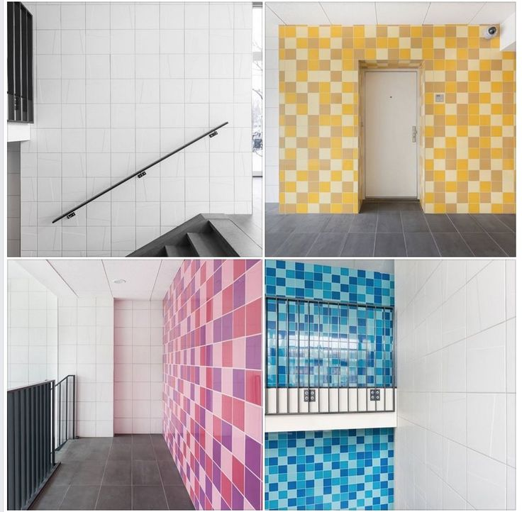 Cool Mosa mosaics in large tiles--from Knox Tiles in Dallas