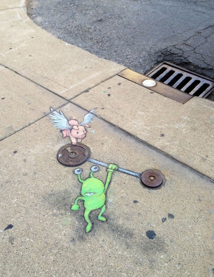 Best David Zinn Street Art Chalk Images On Pinterest - David zinns 3d chalk art adorably creative