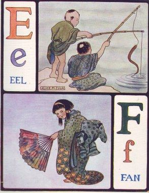 Illustration by Alice May Cook from ABC ([London]: T. Nelson & Sons, [1910]) Reproduced with kind permission from Helen at Living, Libraries and [Dead] Languages (http://nelabligh.com/)