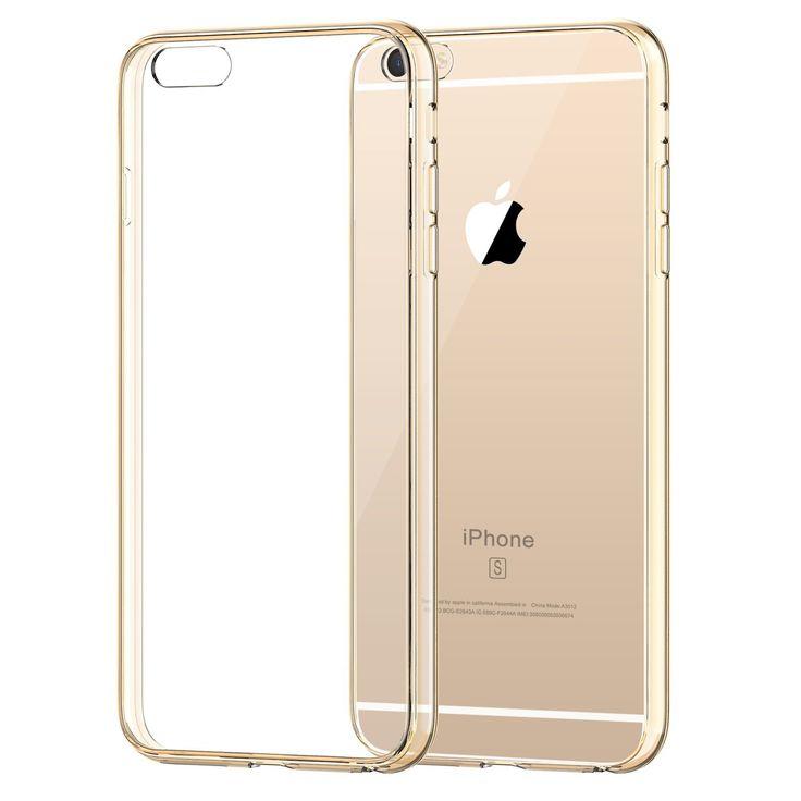"""JETech Apple iPhone 6 6S 4.7"""" Hülle Tasche Schutzhülle Case Cover Bumper und Anti-Scratch Löschen Back für iPhone 6s und iPhone 6 (Gold): Amazon.de: Elektronik"""