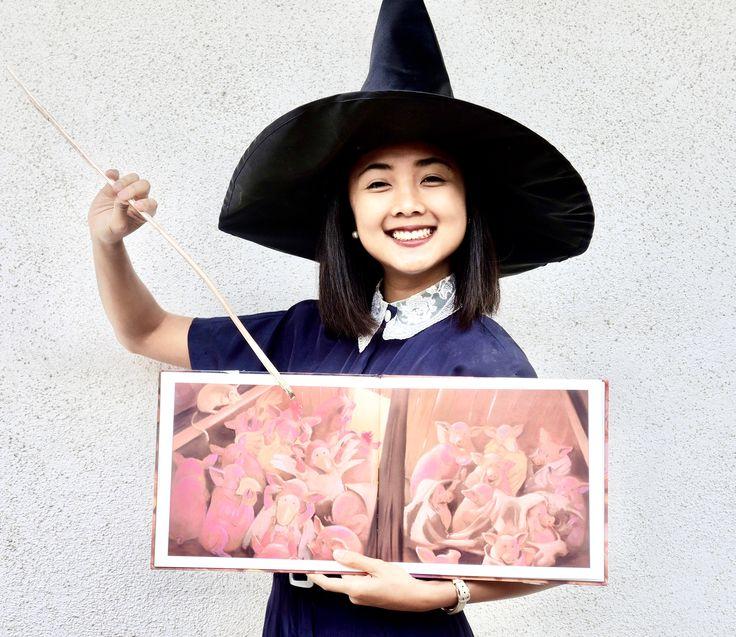 MaiStoryBookLibrary: Piggie Pie! + Halloween Barnyard Masks Pretend Play