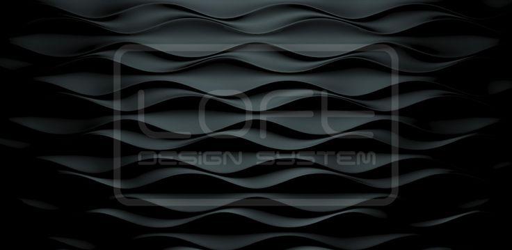 Decorative Panels 3D Loft Design System - model 24 - FLOW = Three Dimensional Panels