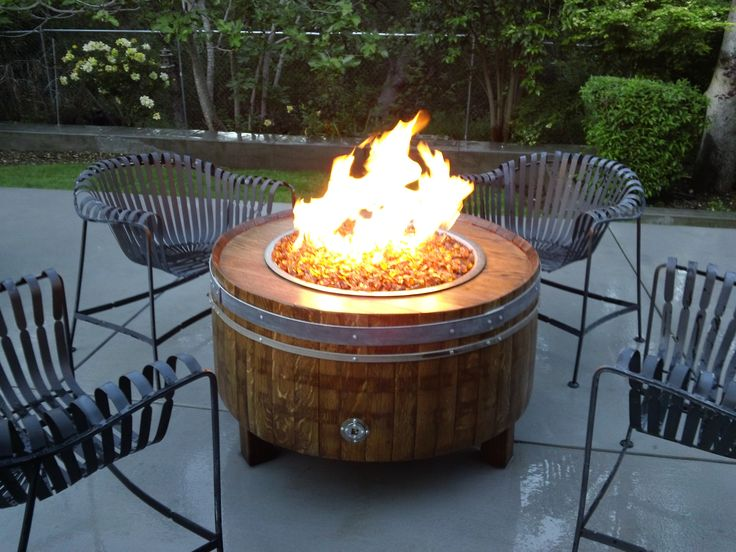 wine barrel fire pit | Moderna - .:Wine Barrel Fire Pits- Sonoma County Fire Pits:.