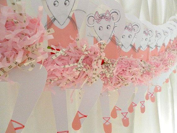 Angelina Ballerina Garland - Baby Shower, Party, Bedroom Decoration.
