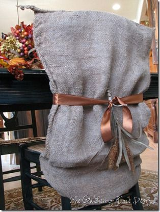 potato sac chair cover for the fall. So cute!!!