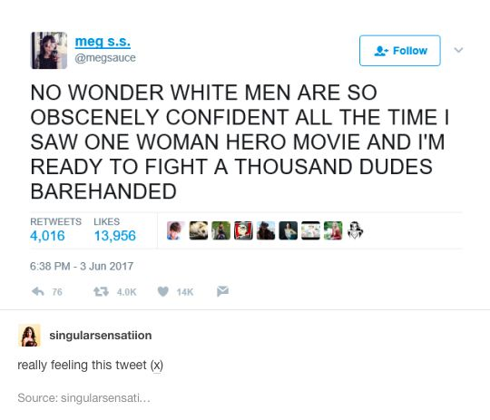 So true tho lol I just saw Wonder Woman and I'm so ready