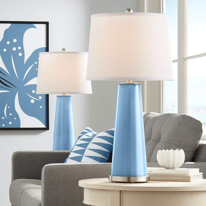 Secure Blue Leo Table Lamp Set Of 2 17t20 Lamps Plus Table Lamp Sets Modern Table Lamp Contemporary Table Lamps