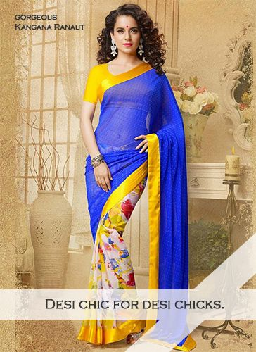 DESI CHICK FOR DESI CHICKS  Look Like Gorgeous Kangana Ranaut in Indian Saree  Check out the whole collection @ www.madeinmyindia.com Made with love in #India  #madeinmyindia #made #with #love #india #ethnic #Wear #fashion #clothing #unique #handcrafted #suits #kurtis #lehenga #Sarees #Bridal #partywear #embroided #wedding #manymore #designclothing #fashionclothing #trends #bollywood #Kanganaranaut