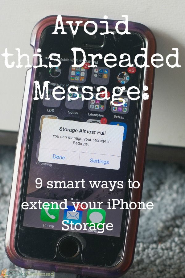 Never run out of space on your iPhone again with these quick tips for expanding your iPhone storage!
