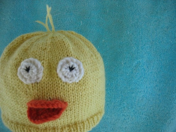 Duck hat beanie  wool/silk/mohair children's 'Lord by HotScones, $45.00
