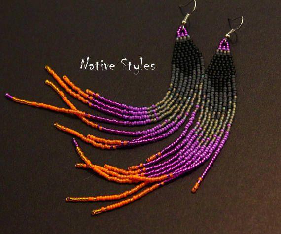 6.5Native Seed Bead EarringsLong Shouler DustersNative