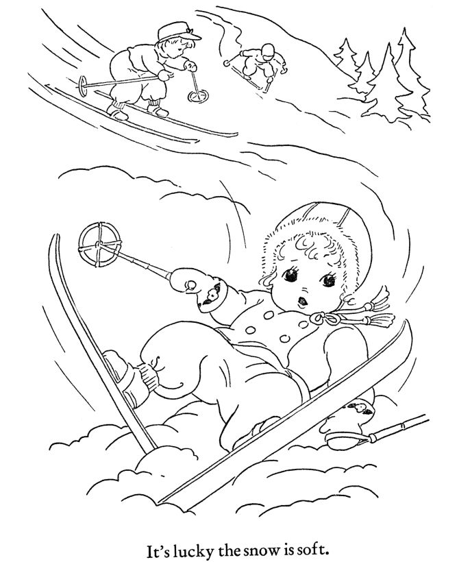 Winter Coloring Printables | Winter Coloring Pages - Kids Winter Outdoor Activities
