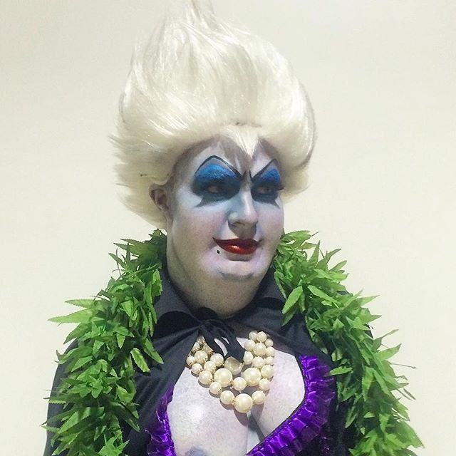 Pin for Later: The Celebrity Halloween Costumes of 2015 Colton Haynes as Ursula the Sea Witch From The Little Mermaid