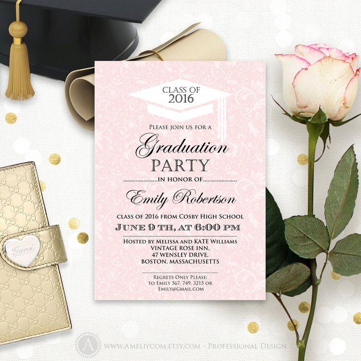 Graduation Announcement instant download printable template