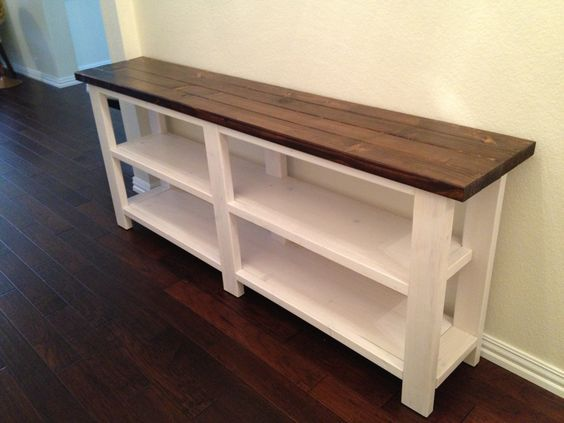 Taylors Console: Build this wood console! Free plans from Ana-White.com.