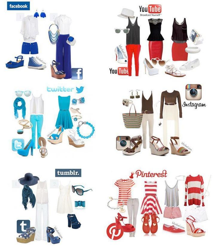 Dime cual es tu red y te dire como viste;-) stilismos y redes sociales #sm #fashion: Social Network, Socialnetwork, Media Fashion, Inspiration, Fashion Style, Social Media, Media Outfits, Medium