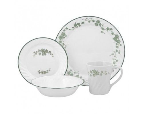 Corelle Callaway 16pc Dinner Set - 4 dinner plates 4 bread & butter plates 4 cereal bowls and 4 stoneware mugs. #Corelle #DinnerSet #PopatStores