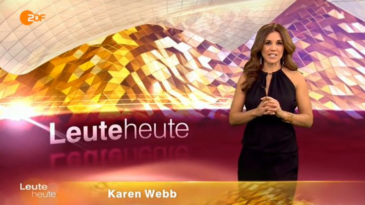 ZDF/leute heute    Karen Webb in Andrea Sauter Swiss Fashiondesign