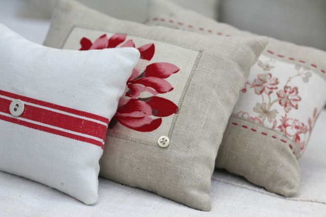 sewing and textiles - Lavender Pillows by Emma George