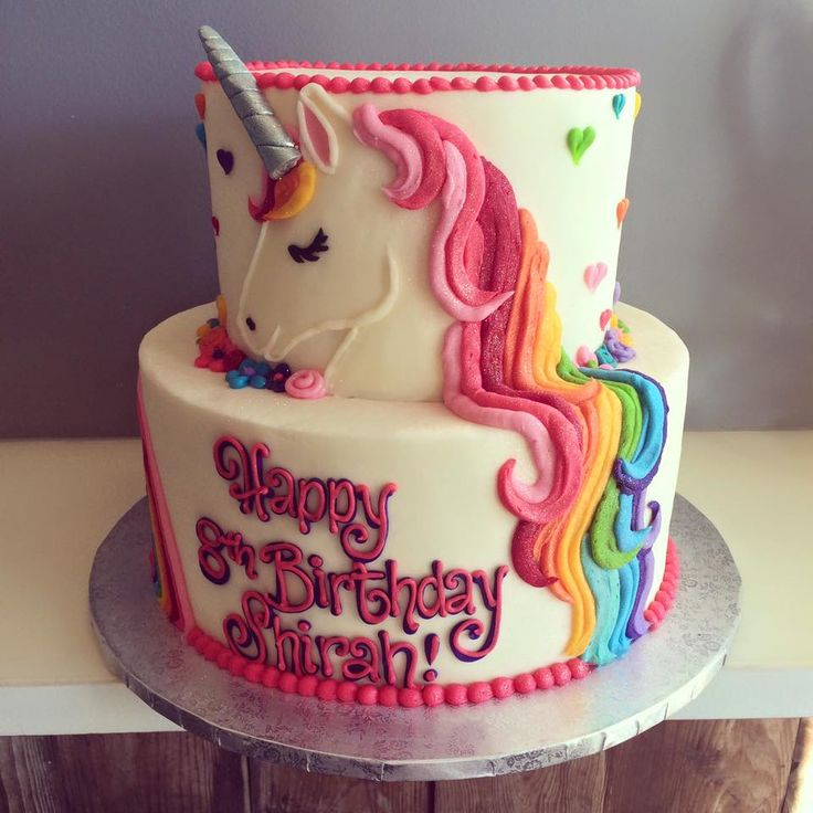 Cake Ideas Birthday Girl : 25+ best ideas about Unicorn Birthday Cakes on Pinterest ...