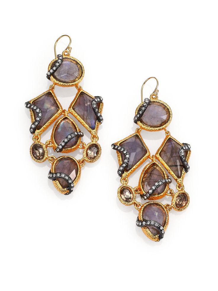 Alexis Bittar | ALEXISBITTAR | Gold chandelier earrings ...