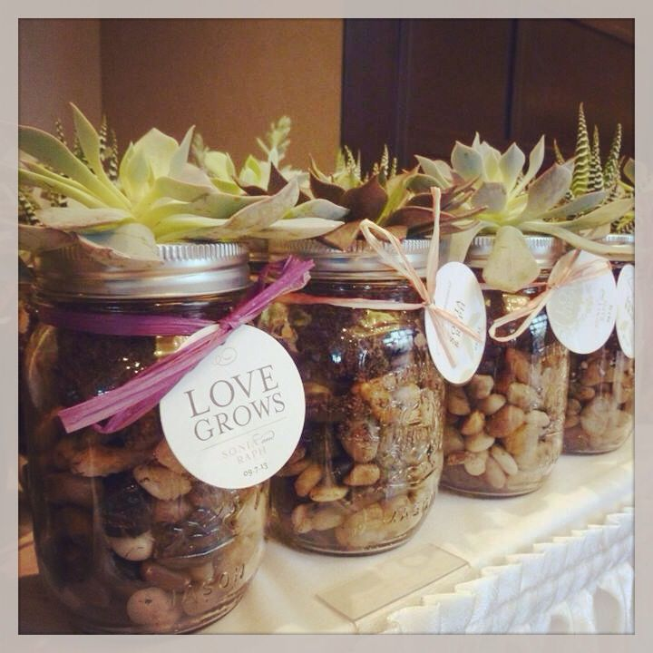 Love grows- our stunning wedding favours