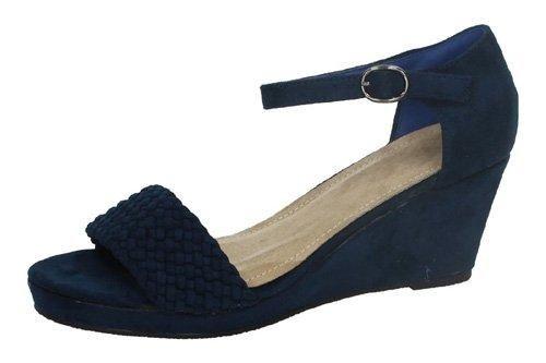 Oferta: 8.95€. Comprar Ofertas de Sandalia azul marino H.F SHOES SANDALIAS CUÑA talla 36 AZUL NOBUCK barato. ¡Mira las ofertas!