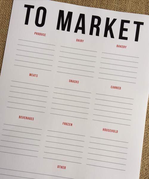 Printable Grocery List –