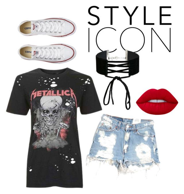 Untitled #40 by alexandra-ns on Polyvore featuring And Finally, Furst of a Kind, Converse, Miss Selfridge and Lime Crime