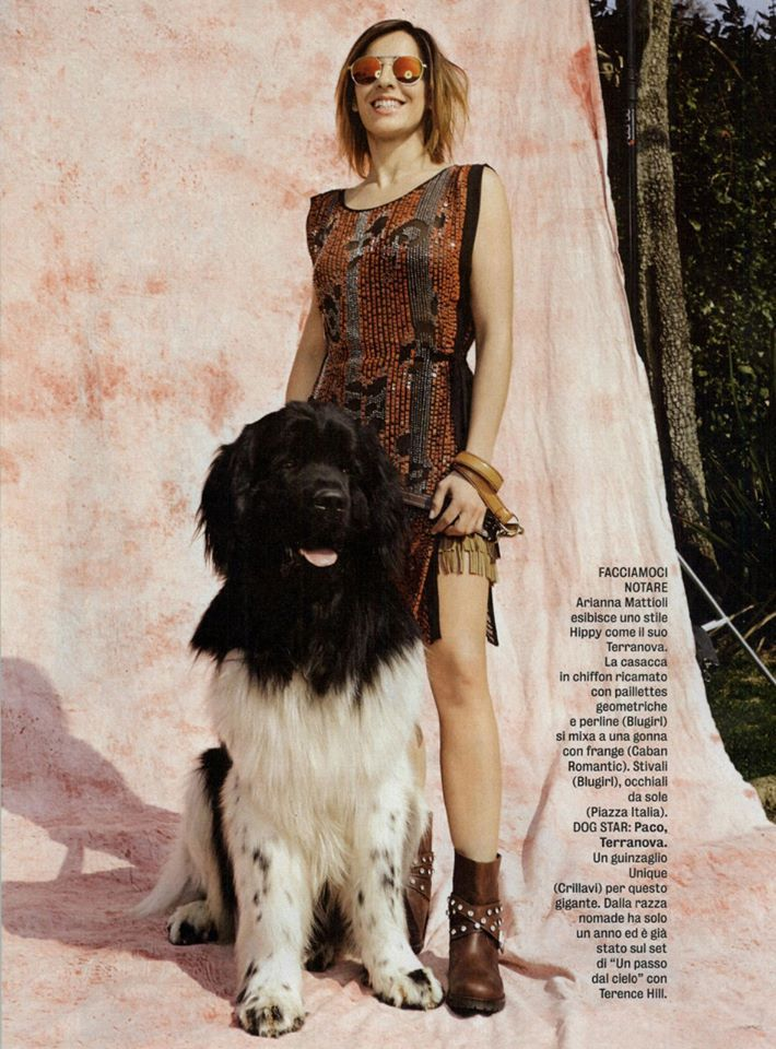 Best Editorials - Blugirl Spring Summer 2015 • Chiffon dress with sequin embroidery. • Diva e Donna, Italy - April 14, 2015